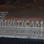 Aluminum MultiCam cutout using waterjet