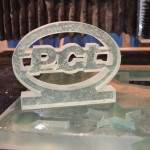 Glass PCL cutout using waterjet