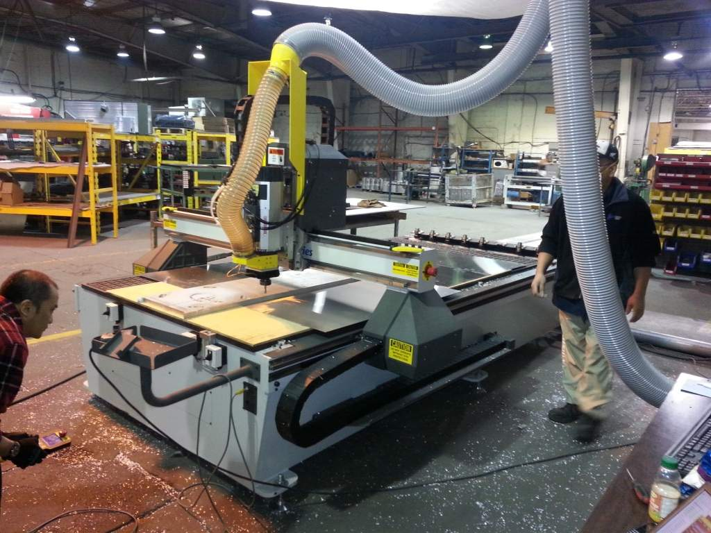 3000 Series Router at Custom Steel Manufacturing
