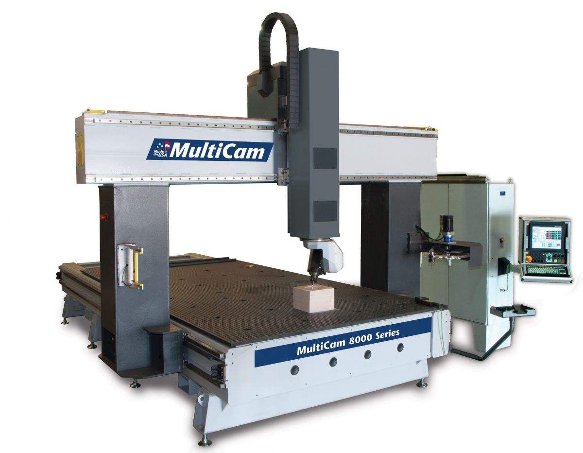 Industrial Downdraft Tables 8000 Series 5-Axis CNC Router - MultiCam CanadaMultiCam Canada