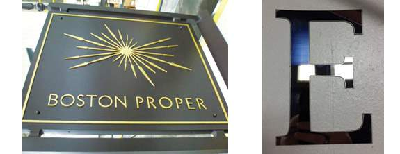 waterjet cutting for sign industry