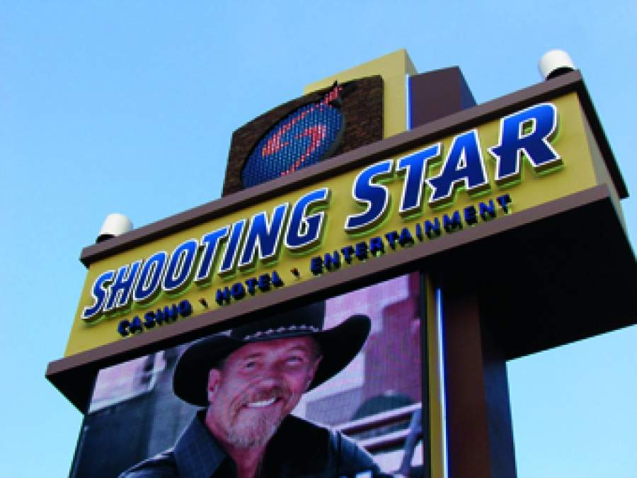Shooting Star Finishing Sign
