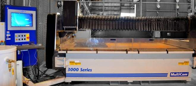 CNC waterjet cutter